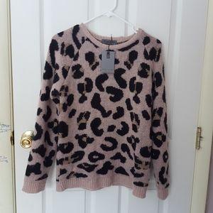 NWT Elsamenda Anthropologie ANIMAL PRINT Sweater